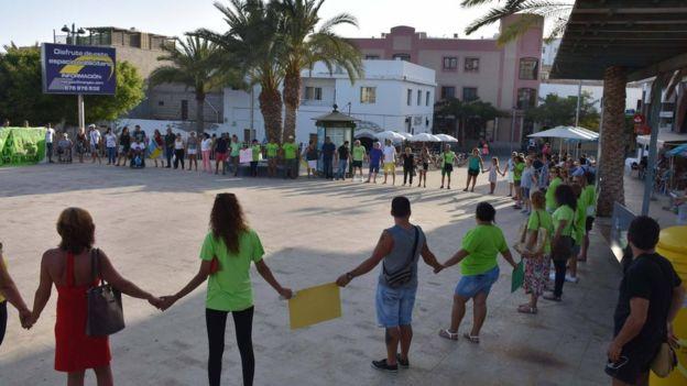 """Профсоюз """"Лас Келлис"""" устроил недавно акцию протеста на острове Фуэртевентура"""