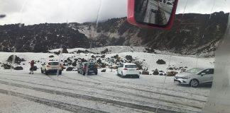 Первый снег на Тейде 2017