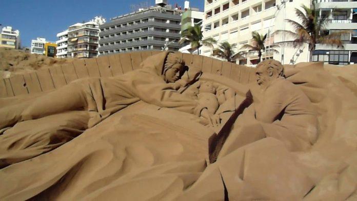На Гран Канарии создана самая большая рождественская сцена из песка в Испании