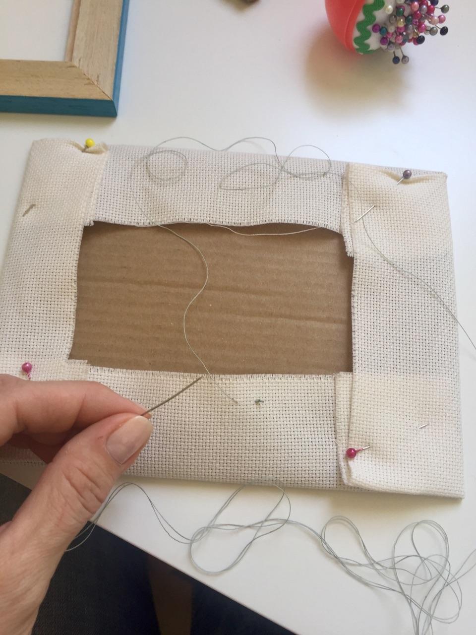 Оформление вышивки в рамку