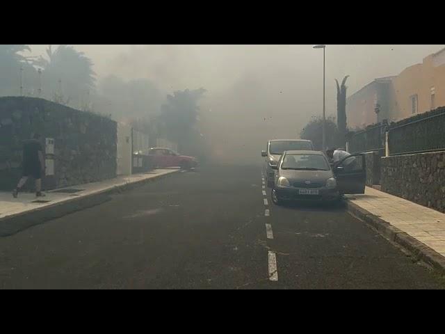 Пожары на севере Тенерифе