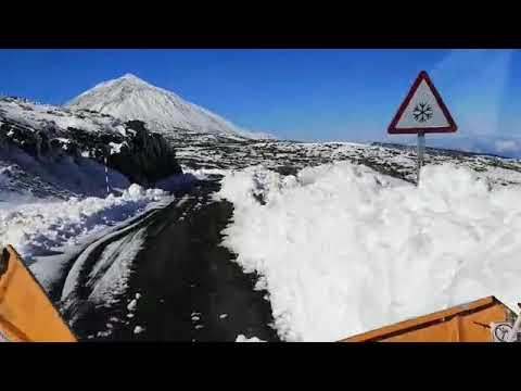 НаКанарах выпало рекордное затри года количество снега