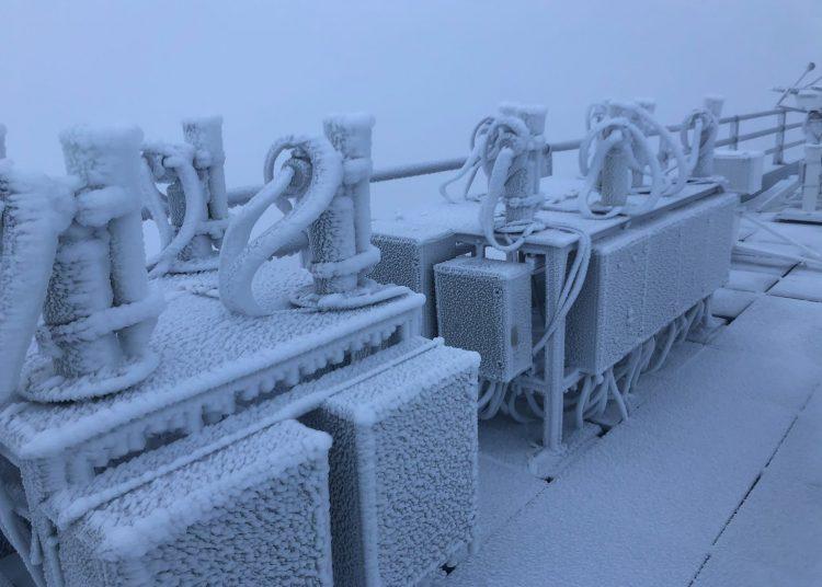 Сегодня утром наТейде зафиксирована температура −4,4 градуса